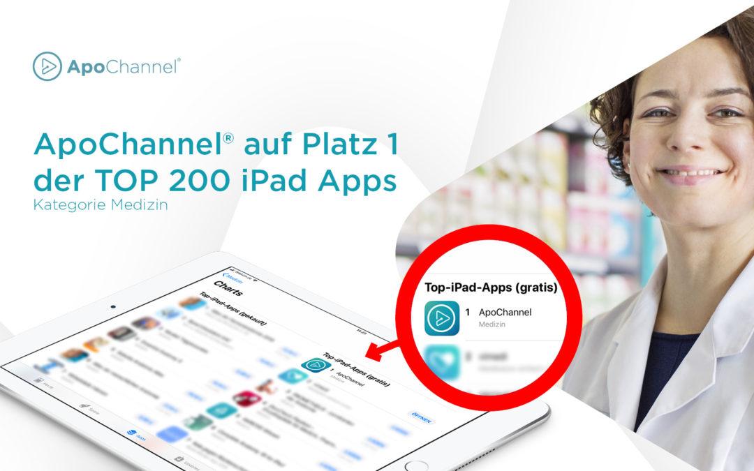 ApoChannel® führt das Ranking der beliebtesten iPad-Apps an.